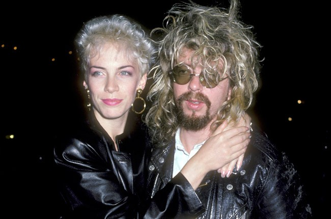 Annie Lennox and Dave Stewart of Eurythmics in 1986