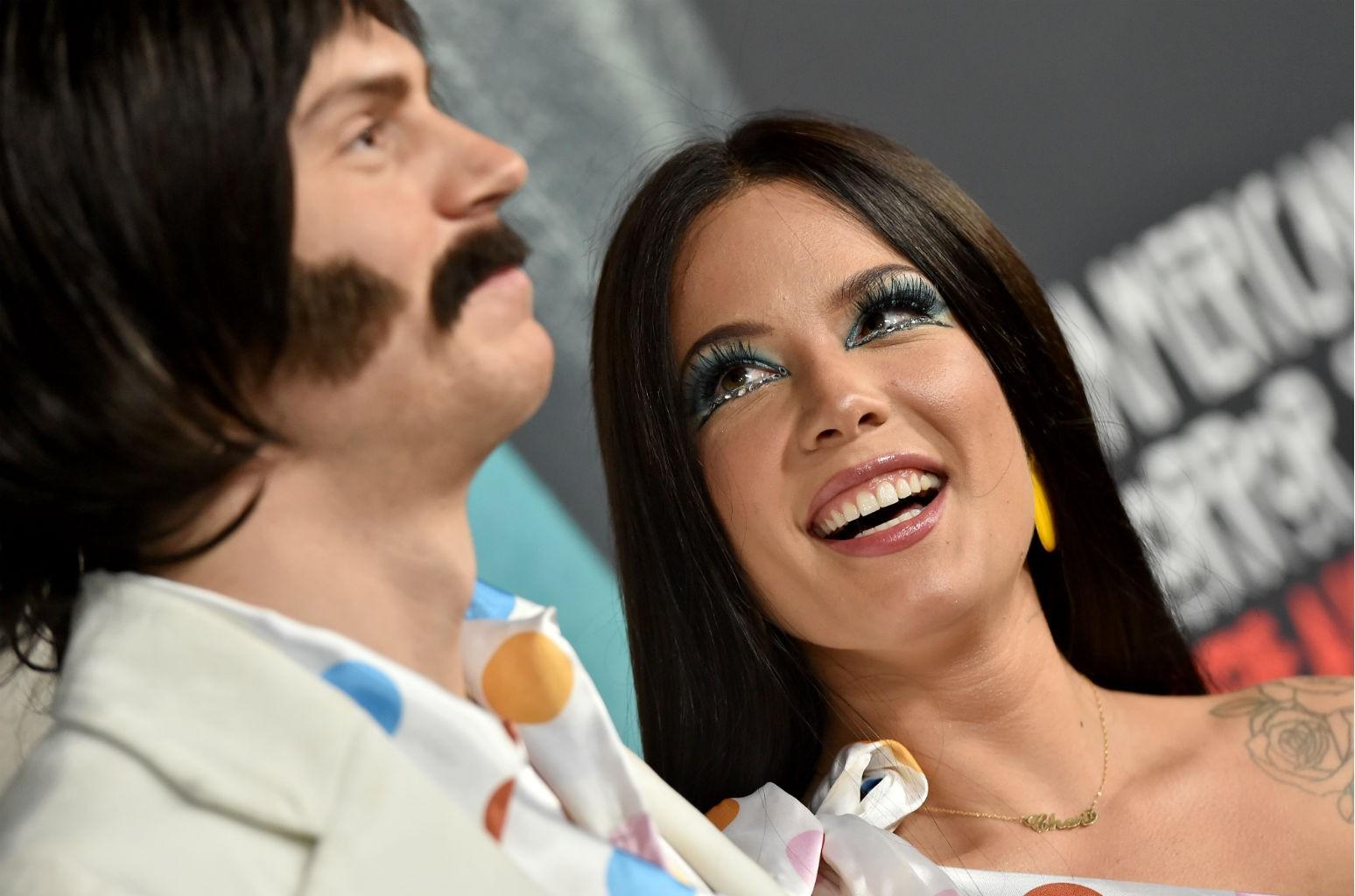 Halsey Evan Peters Dress As Sonny Cher For Halloween See Photos Billboard Billboard