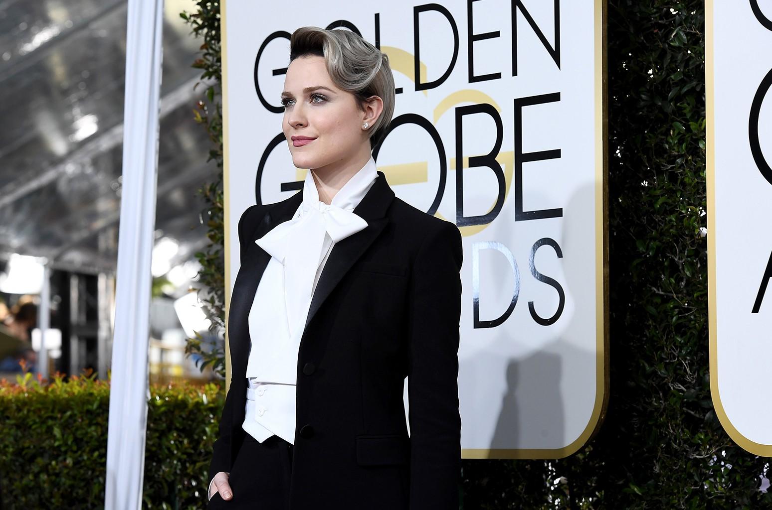Evan Rachel Wood arrives to the 74th Annual Golden Globe Awards