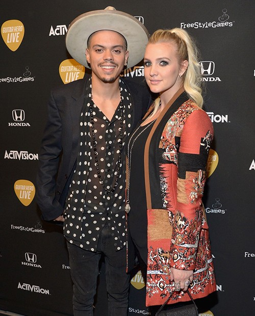 Evan Ross and Ashlee Simpson attend Activisions Guitar Hero Live launch party