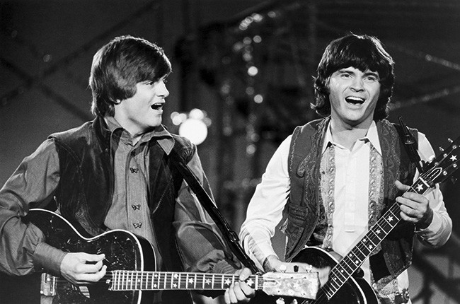 "The Everly Brothers perform on ""Johnny Cash presents the Everly Brothers Show"" on July 8, 1970"
