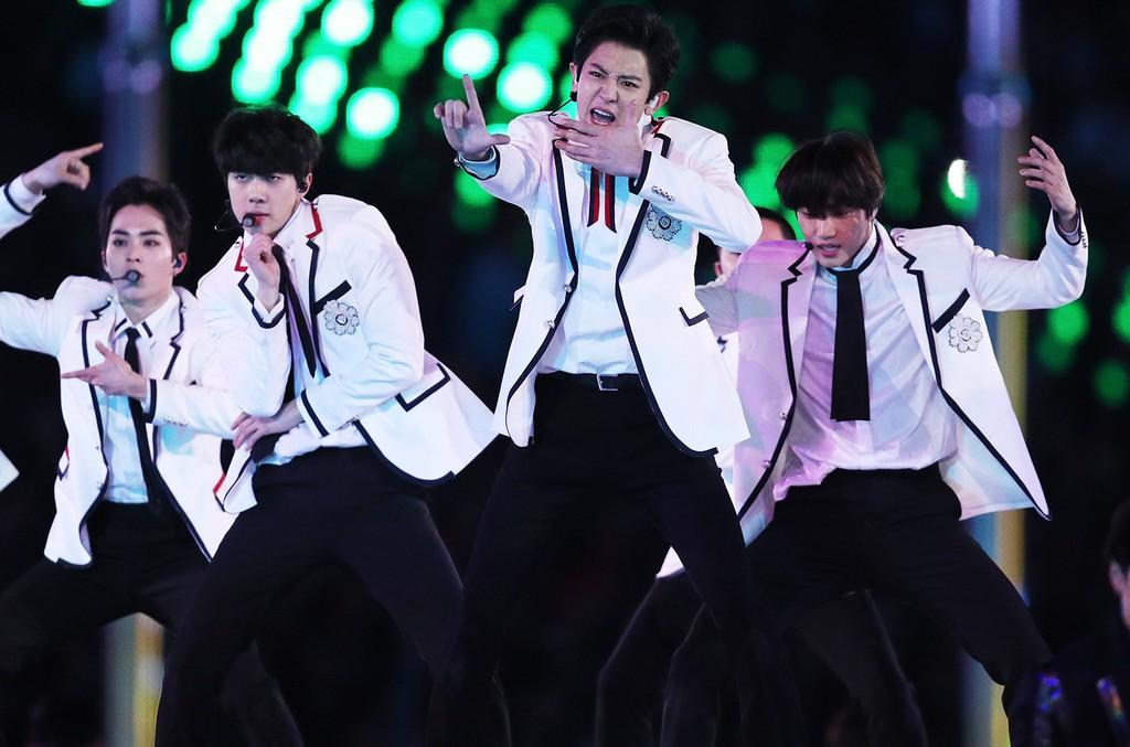 EXO olympics closing ceremony