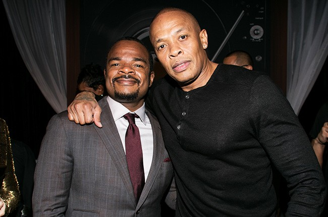 Director F. Gary Gray, left, and Dr. Dre straight outta compton premiere 2015