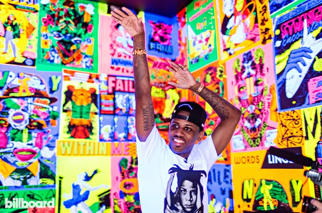 Fabolous photographed at the Brooklyn Museum on July 9, 2015 in Brooklyn, New York.