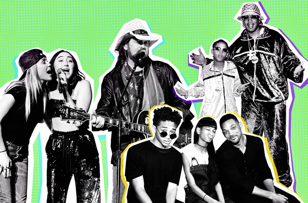 Miley Cyrus, Noah Cyru, Billy Ray Cyrus, Jaden Smith, Willow Smith, Will Smith, Lil' Romeo and Master P