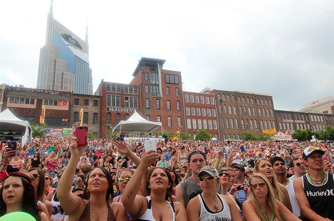 Fans attend the CMA Music Festival