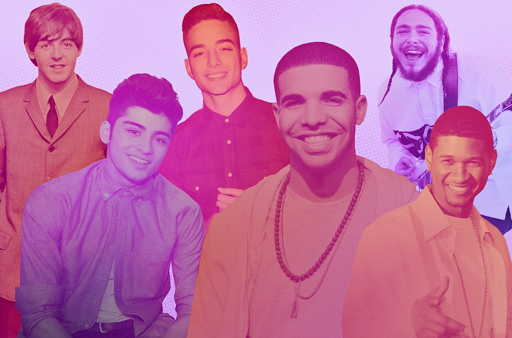From left: Paul McCartney, Zayn, Maluma, Drake, Post Malone & Usher
