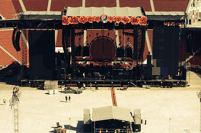 Fare Thee Well staging at Levi's Stadium in Santa Clara, Calif.