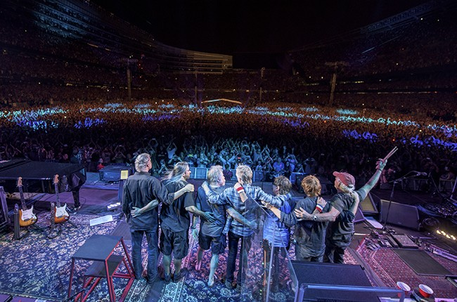 The Grateful Dead performance during the 'Fare Thee Well, A Tribute To The Grateful Dead' on July 5, 2015 in Chicago.