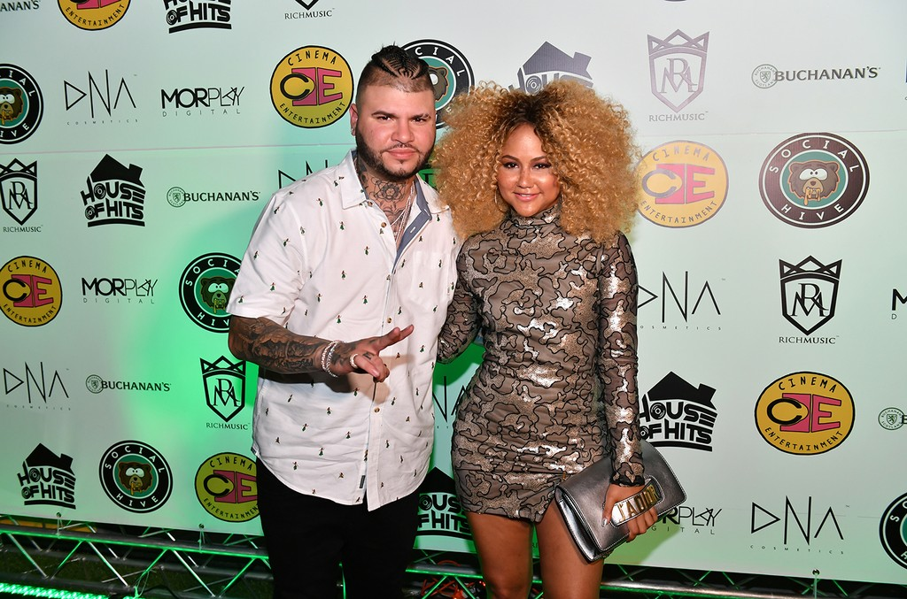 Farruko and Kat DeLuna attends the Social Hive opening presented by Buchanan's Whisky on July 11, 2017 in Wynwood, Fla.
