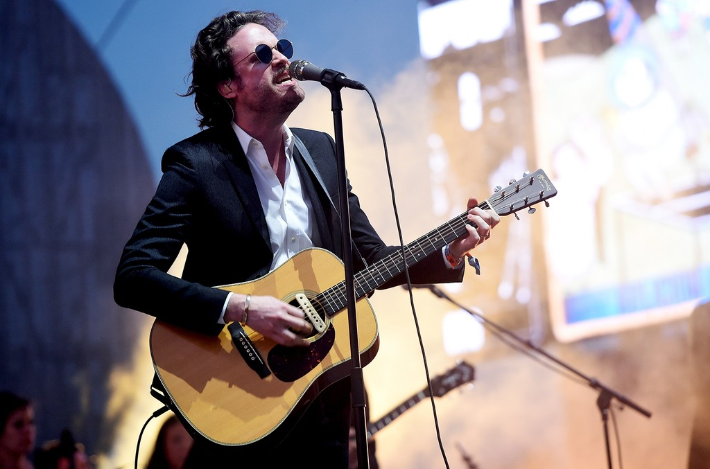 Father John Misty performs on the Coachella Stage during day 1 of the Coachella Valley Music And Arts Festival (Weekend 1) at the Empire Polo Club on April 14, 2017 in Indio, Calif.