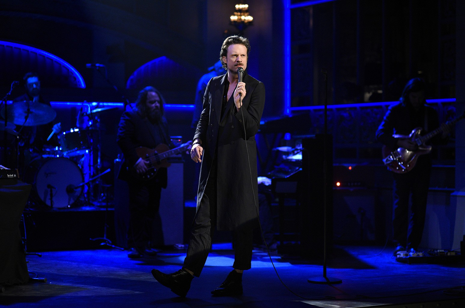 Father John Misty performs on Saturday Night Live on March 4, 2017.