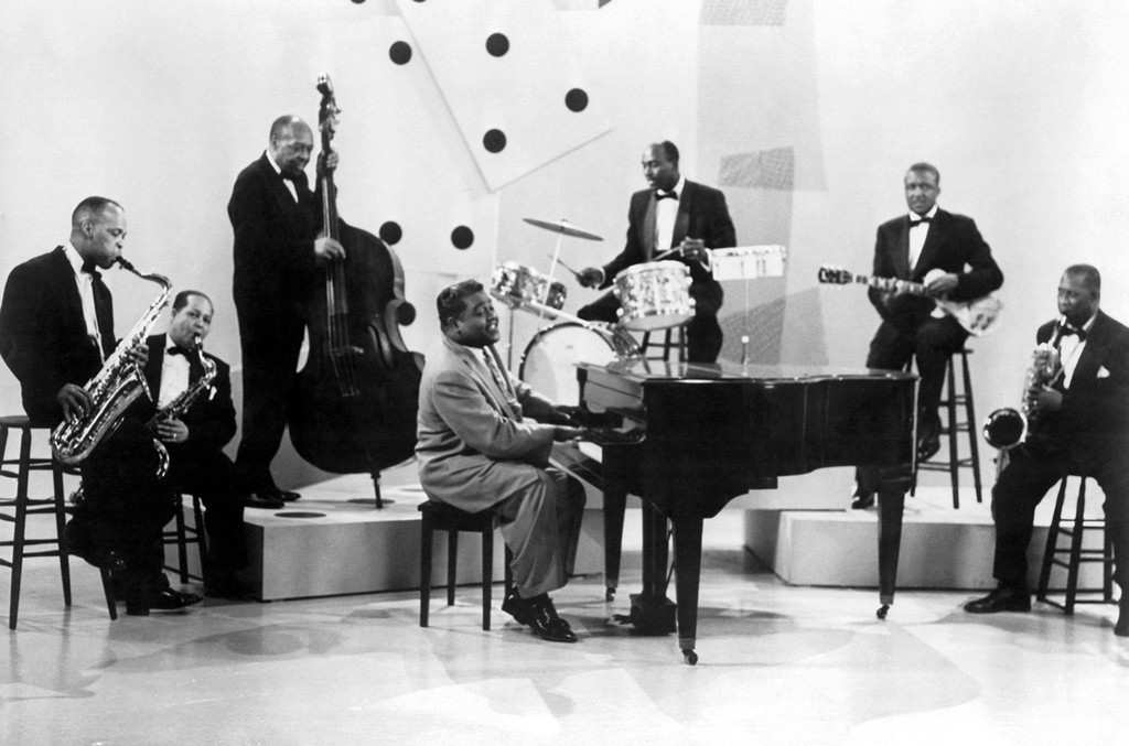 Fats Domino and band, 1957
