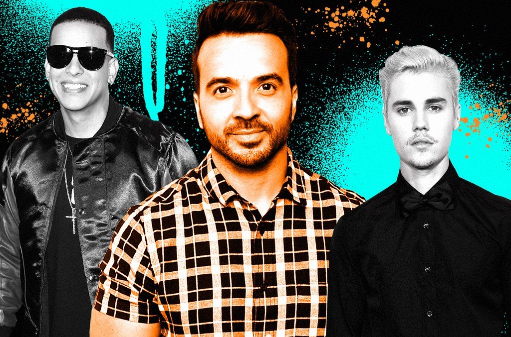 From left: Daddy Yankee, Luis Fonsi & Justin Bieber