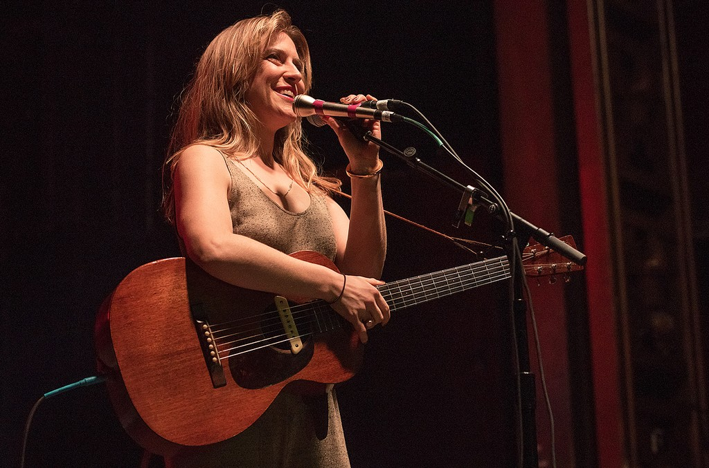 Feist performs at the Cherrytree Records 10th Anniversary at Webster Hall on March 9, 2015 in New York City.