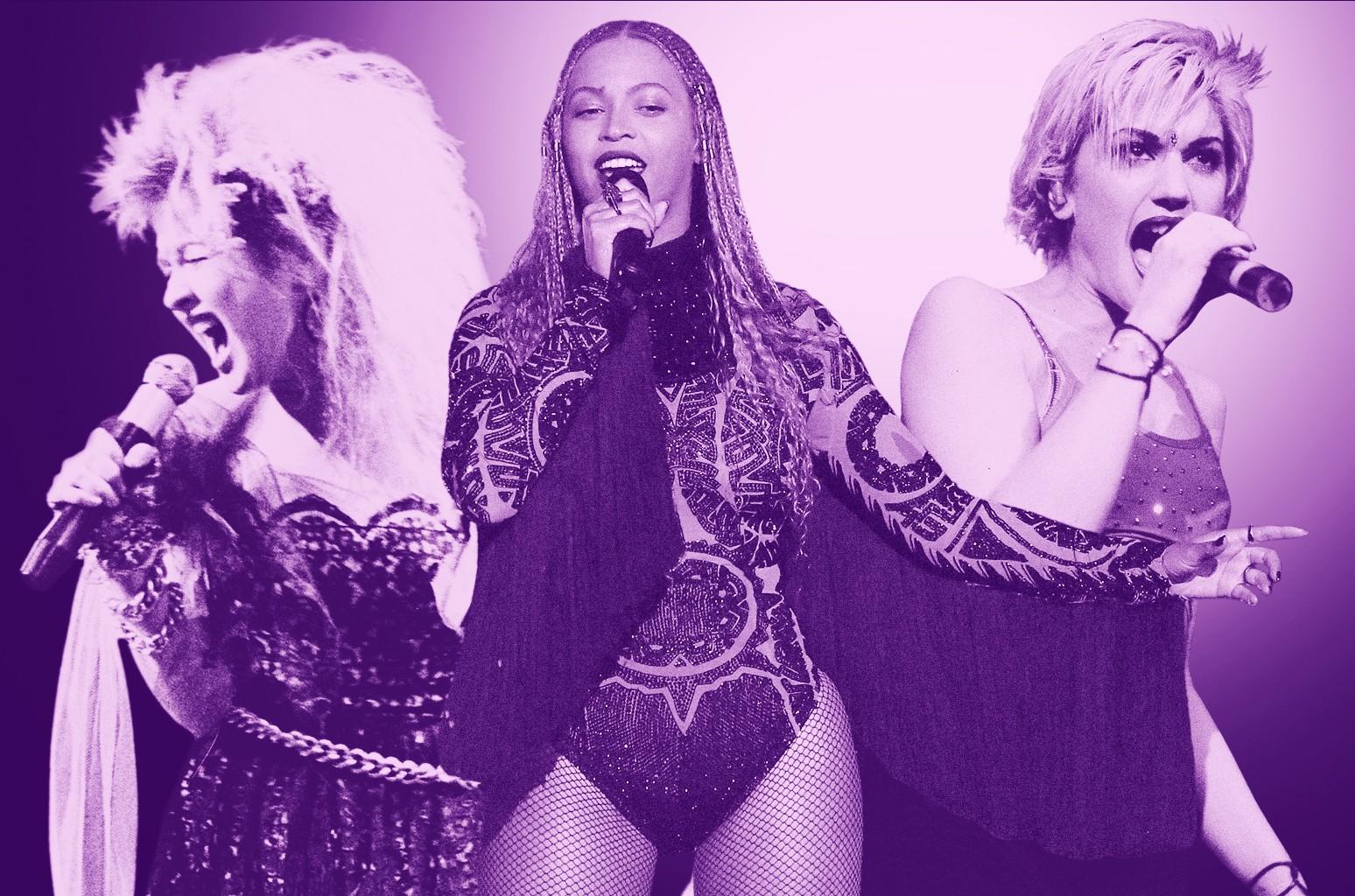Cyndi Lauper, Beyonce, Gwen Stefani