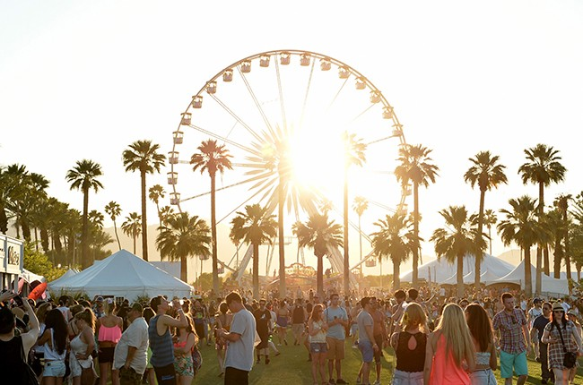 The Ferris wheel is seen during day 1 of the 2014 Coachella Valley Music & Arts Festival