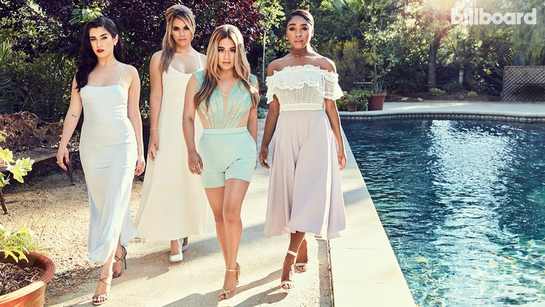 <p>From left: Lauren Jauregui, Dinah Jane Hansen, Ally Brooke Hernandez and Normani Kordei photographed June 15 at The Mountain Mermaid in Topanga, Calif.Styling by Simona&nbsp&#x3B;Sabo. Jauregui wears a Dyspnea dress, Jimmy Choo shoes and Kendra Scott earrings. Hansen wears an Elizabeth &amp&#x3B; James dress and rings, Schutz shoes and Jennifer Meyer cuff. Hernandez wears an Elisabetta Franchi romper and Giuseppe Zanotti shoes. Kordei wears a Jonathan Simkhai top, Marina Hoermanseder pants, Evaluna shoes and Kendra Scott earrings and necklace.</p>