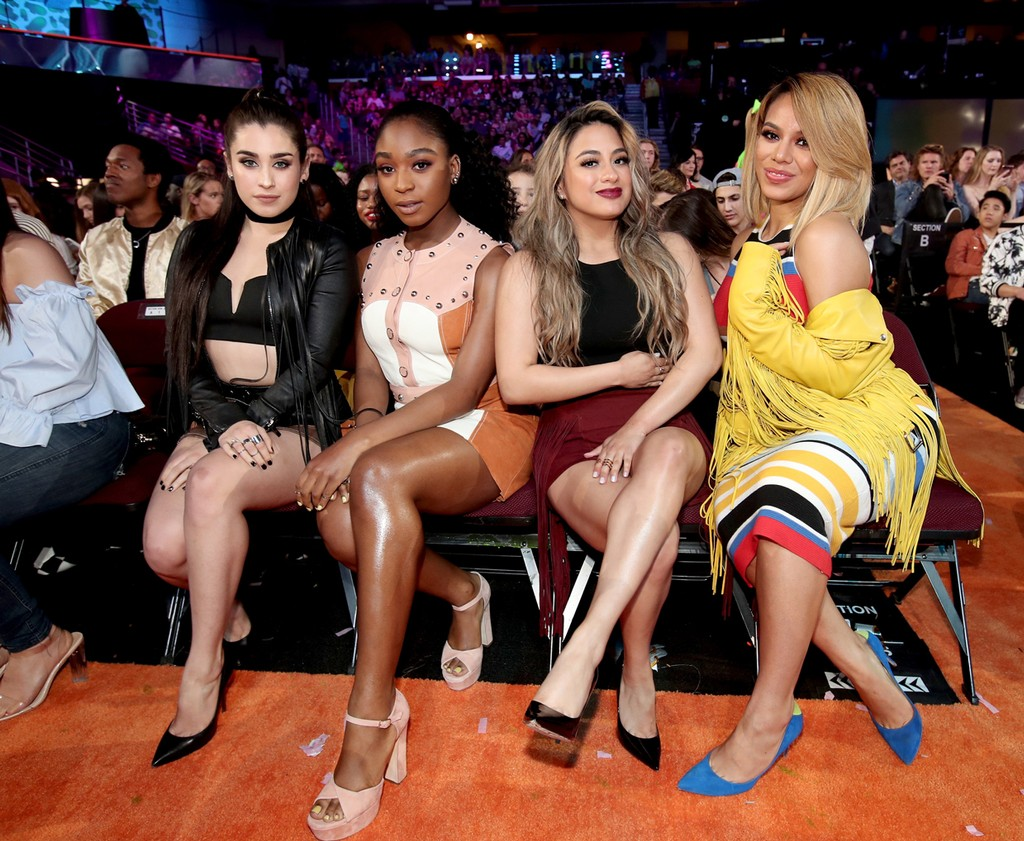 Ally Brooke, Normani Kordei, Lauren Jauregui and Dinah Jane of Fifth Harmony at Nickelodeon's 2017 Kids' Choice Awards at USC Galen Center on March 11, 2017 in Los Angeles.