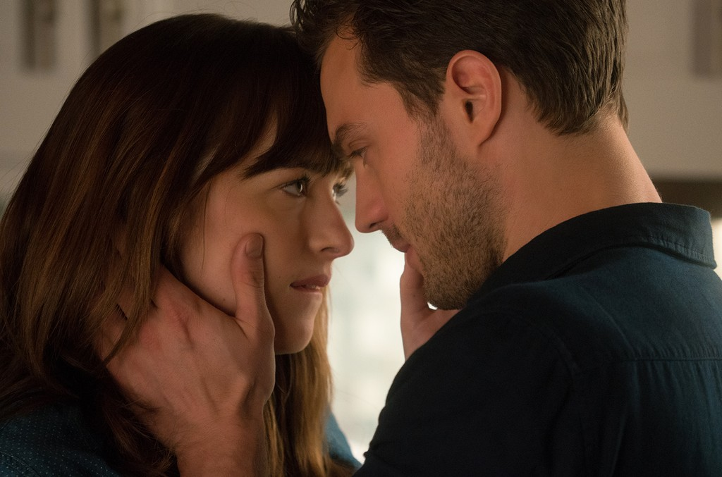 Dakota Johnson and Jamie Dornan in Fifty Shades Darker