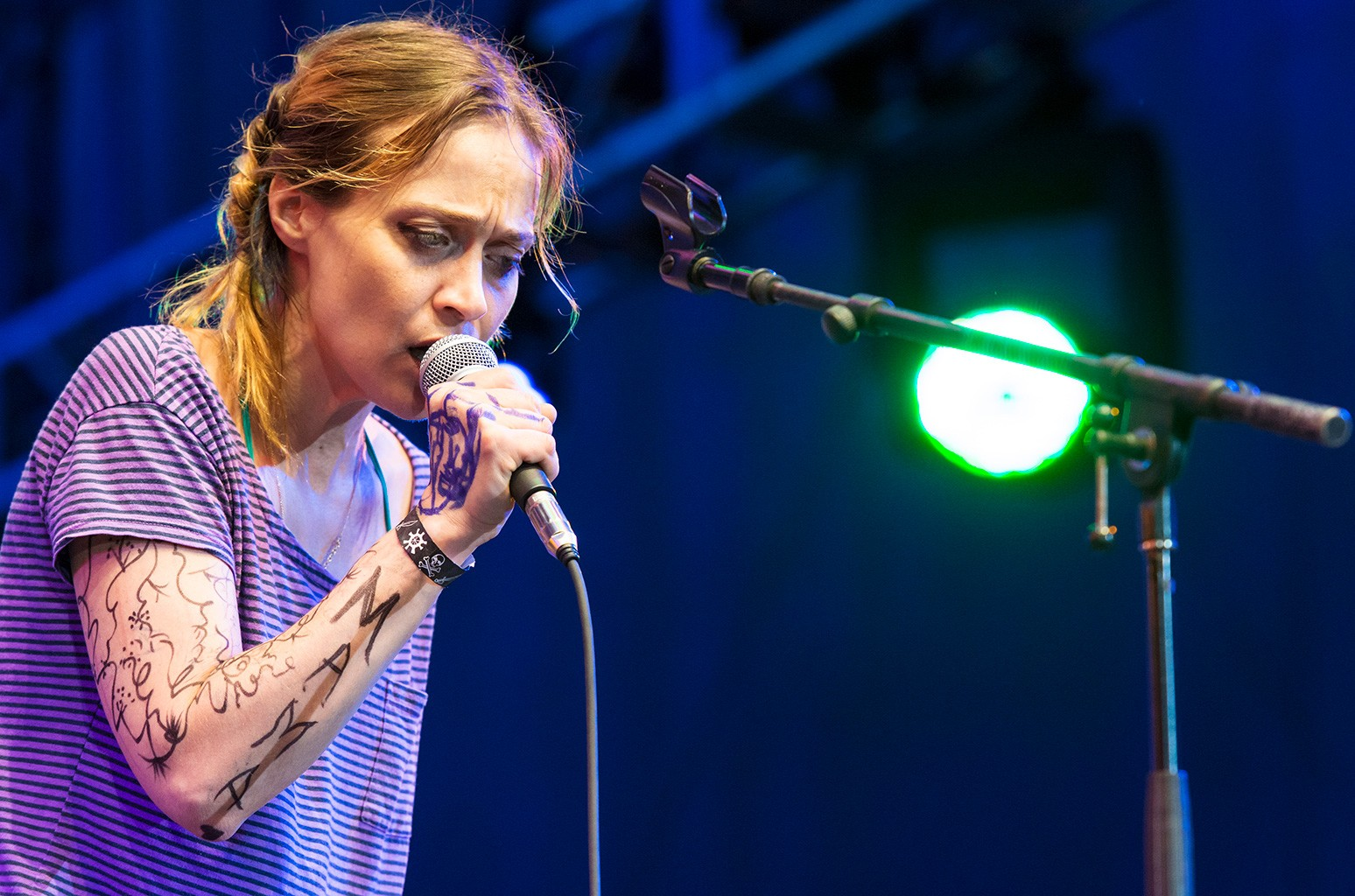 Fiona Apple performs with the Watkins Family Hour Band at the Lincoln Center Out of Doors AmericanaFest NYC at Damrosch Park Bandshell in New York on Aug. 8, 2015.