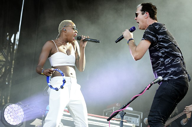 Austin City Limits 2014 -- Noelle Scaggs and Michael Fitzpatrick of Fitz and the Tantrums
