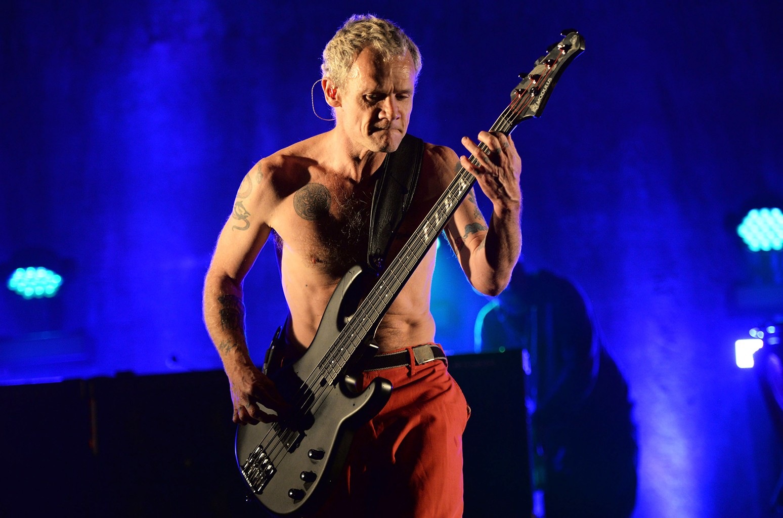 Flea of the Red Hot Chili Peppers performs in 2016