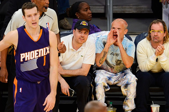 Flea at Los Angeles Lakers game