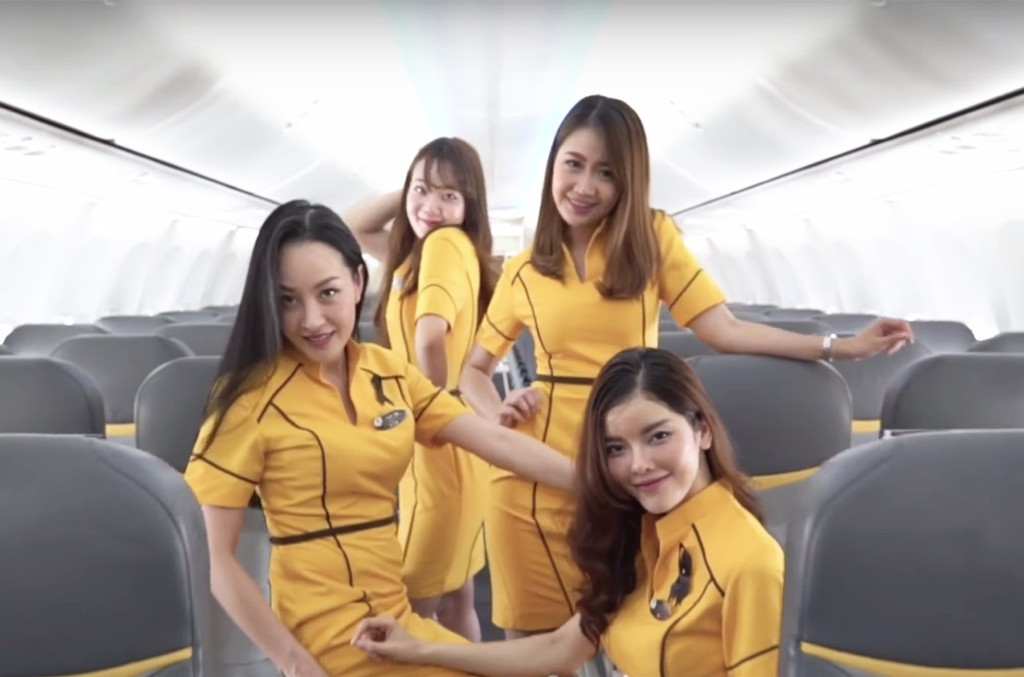 "Nok Air flight attendants recreate ""Toxic"" by Britney Spears"