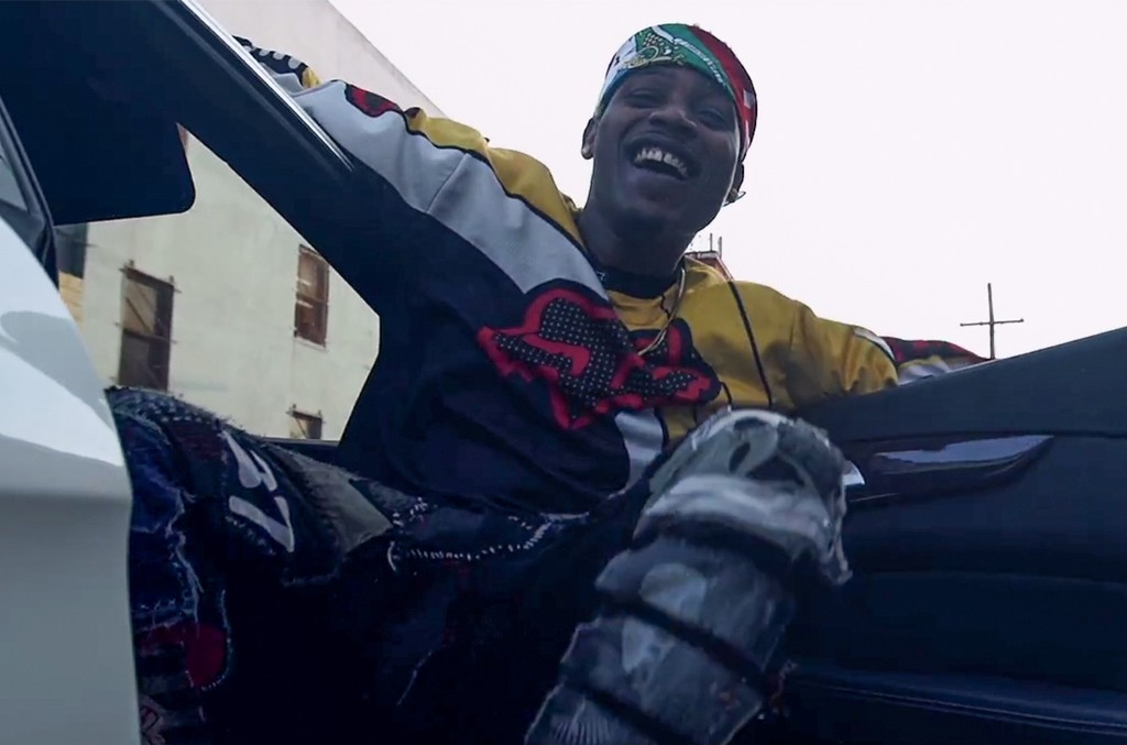 """A scene from the video for """"Running Up Bands"""" by Flipp Dinero."""