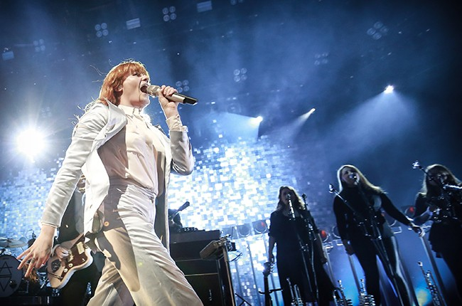 Florence and the Machine perform during Apple Music Festival