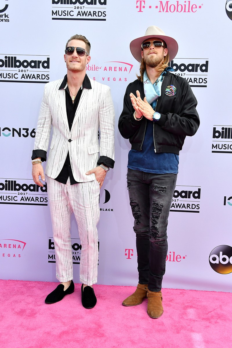 Tyler Hubbard and Brian Kelley of Florida Georgia Line attend the 2017 Billboard Music Awards at T-Mobile Arena on May 21, 2017 in Las Vegas.