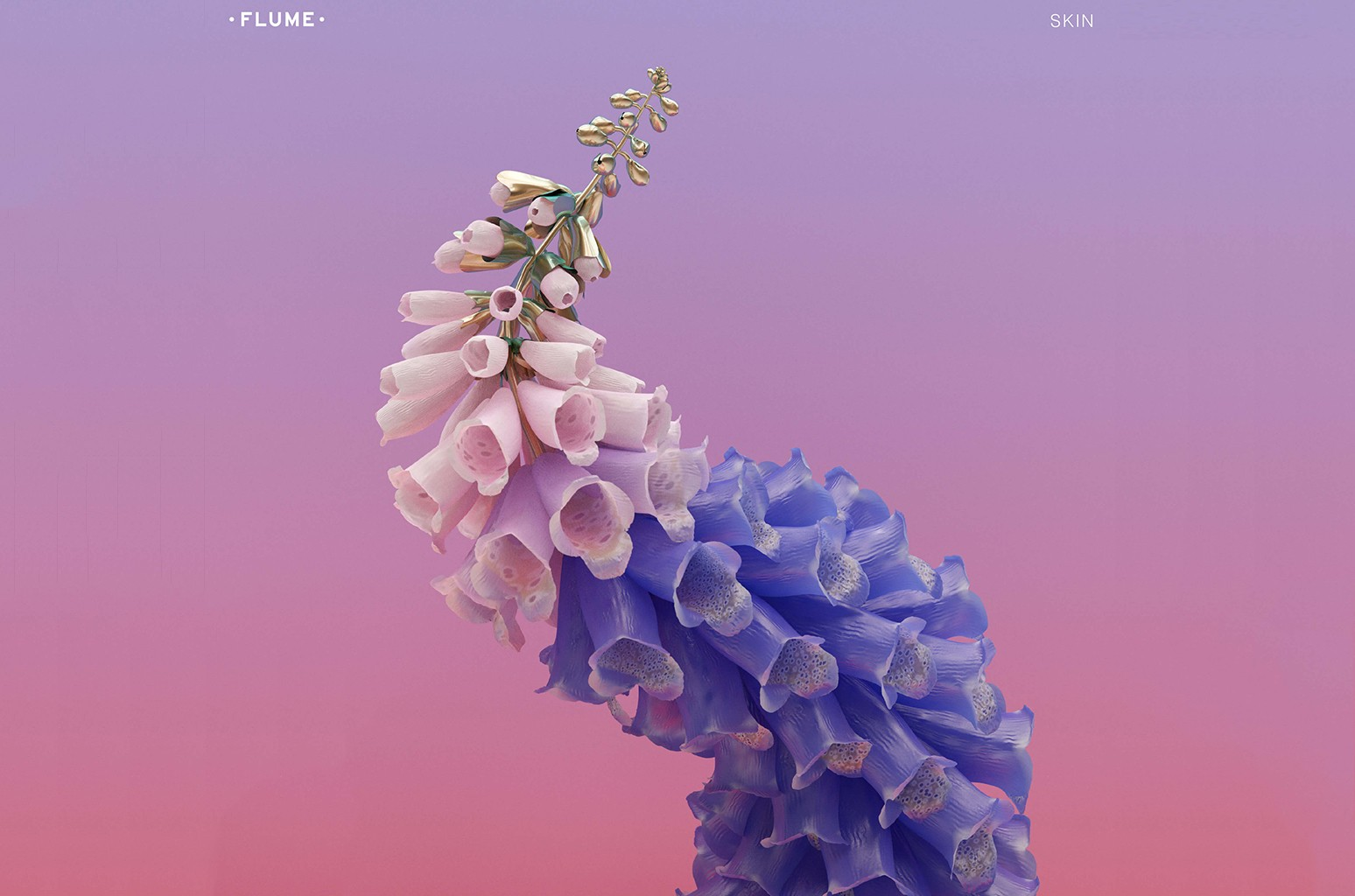 """Cover art for """"Skin"""" by Flume."""