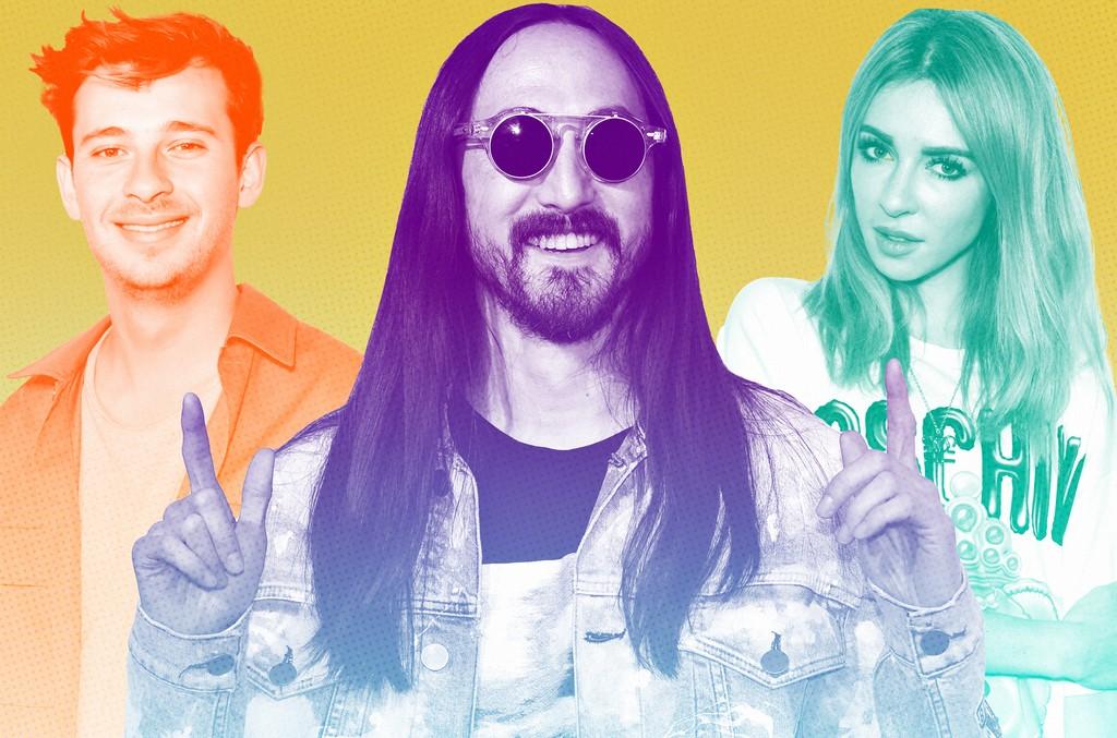 From left: Flume, Steve Aoki & Alison Wonderland