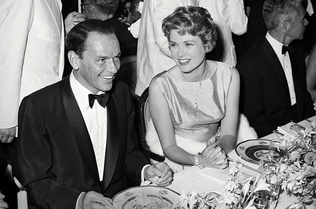 Frank Sinatra with Monaco's Prince Grace on June 16, 1958.