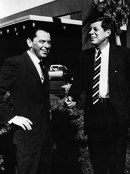 Frank Sinatra and John F. Kennedy