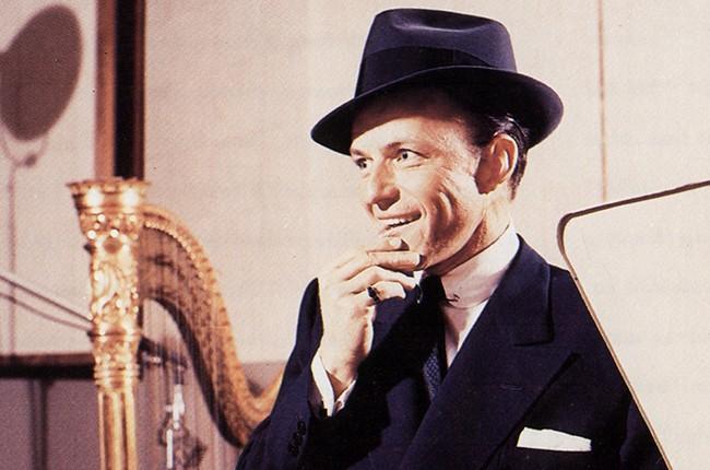 Frank Sinatra in a recording studio in 1956.
