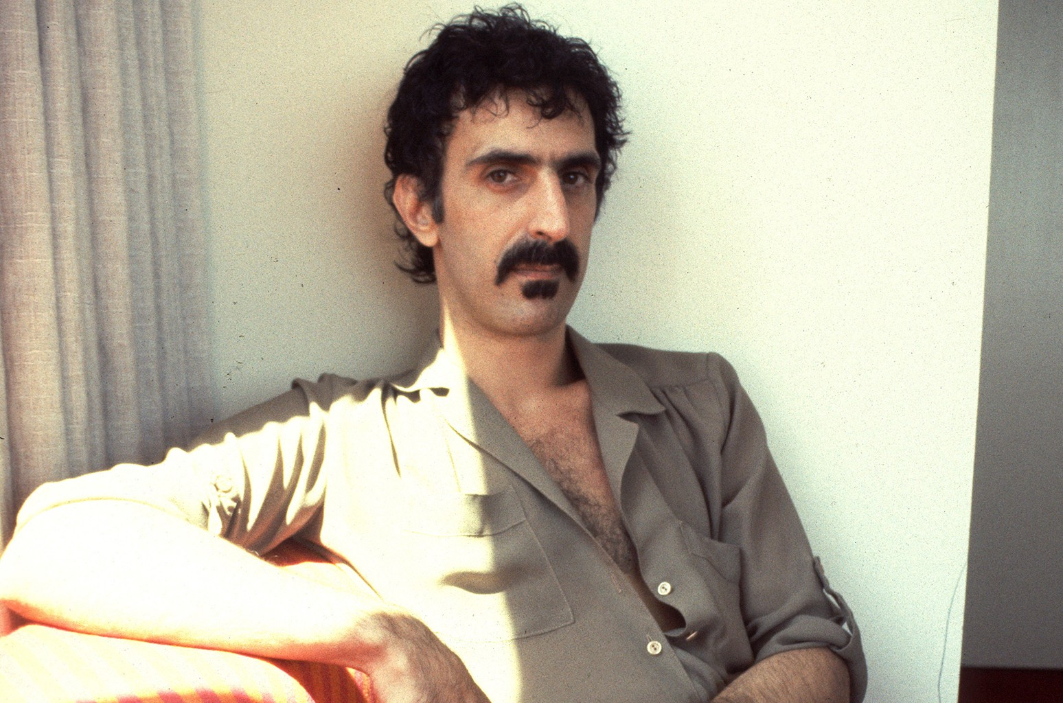 Frank Zappa photographed in Laurel Canyon