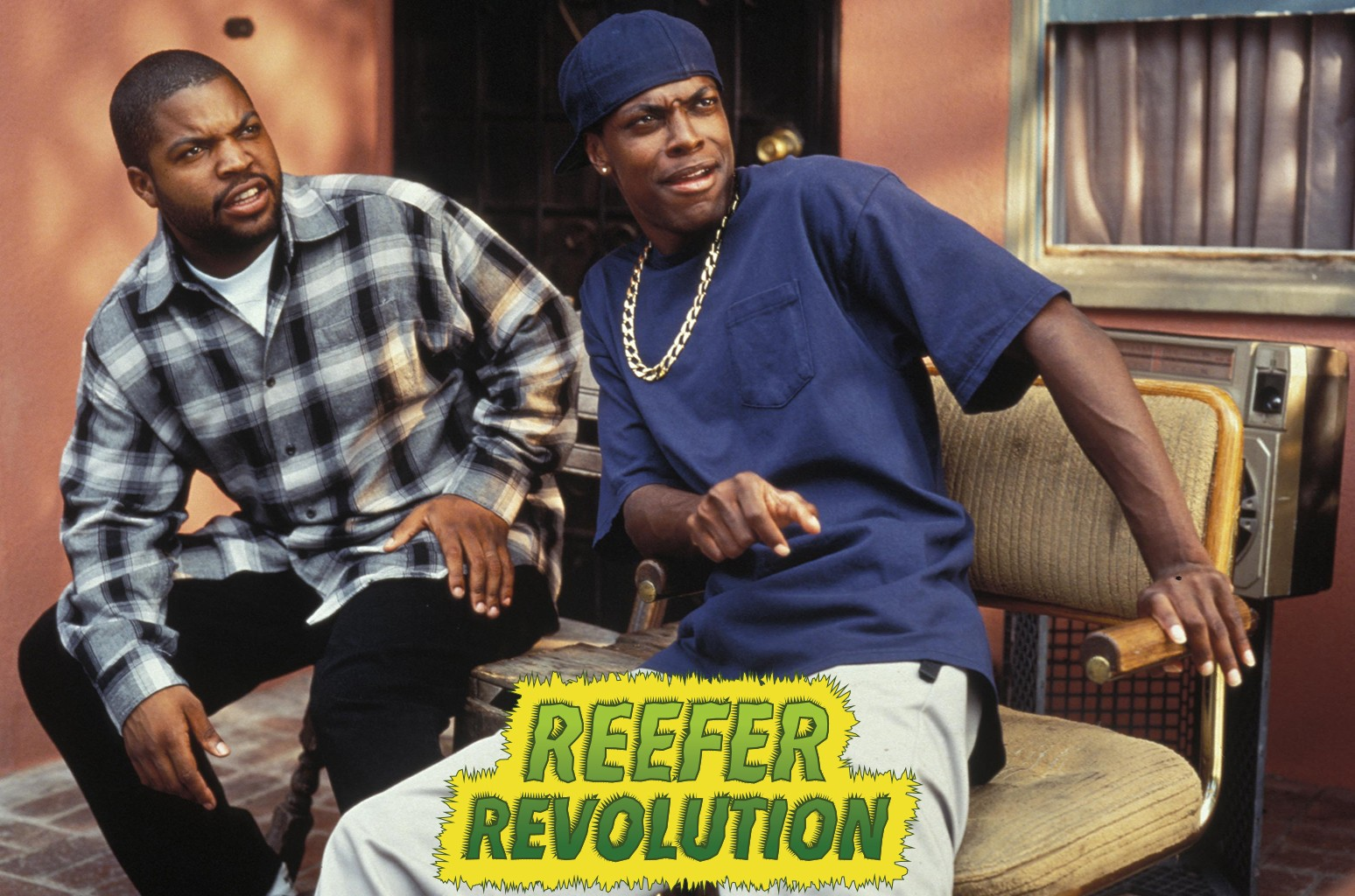 Ice Cube and Chris Tucker in the movie Friday.