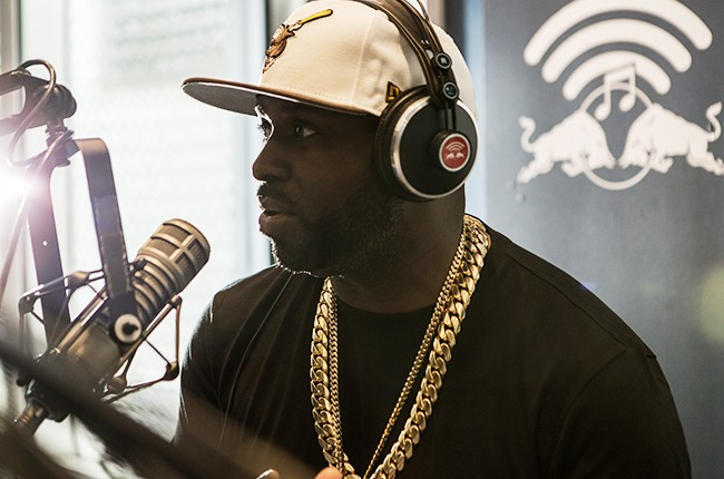 Funkmaster Flex is interviewed, and performs a mini set, in the Red Bull Music Academy pop-up radio station, at Red Bull Guest House in Miami