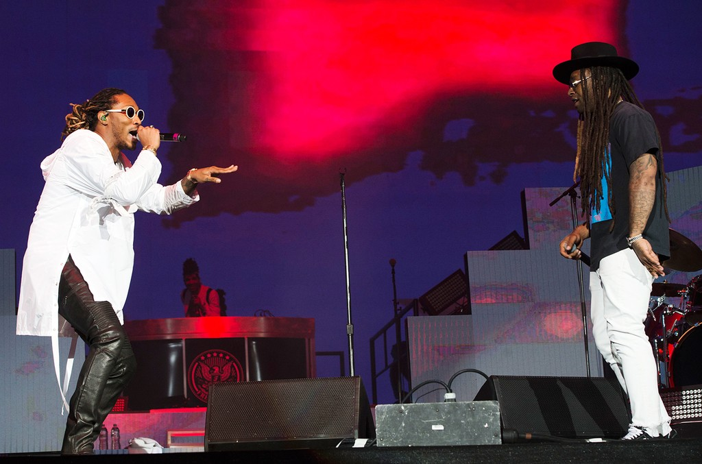 Future and Ty Dolla $ign perform at the Coachella Valley Music And Arts Festival on April 15, 2017, in Indio, Calif.