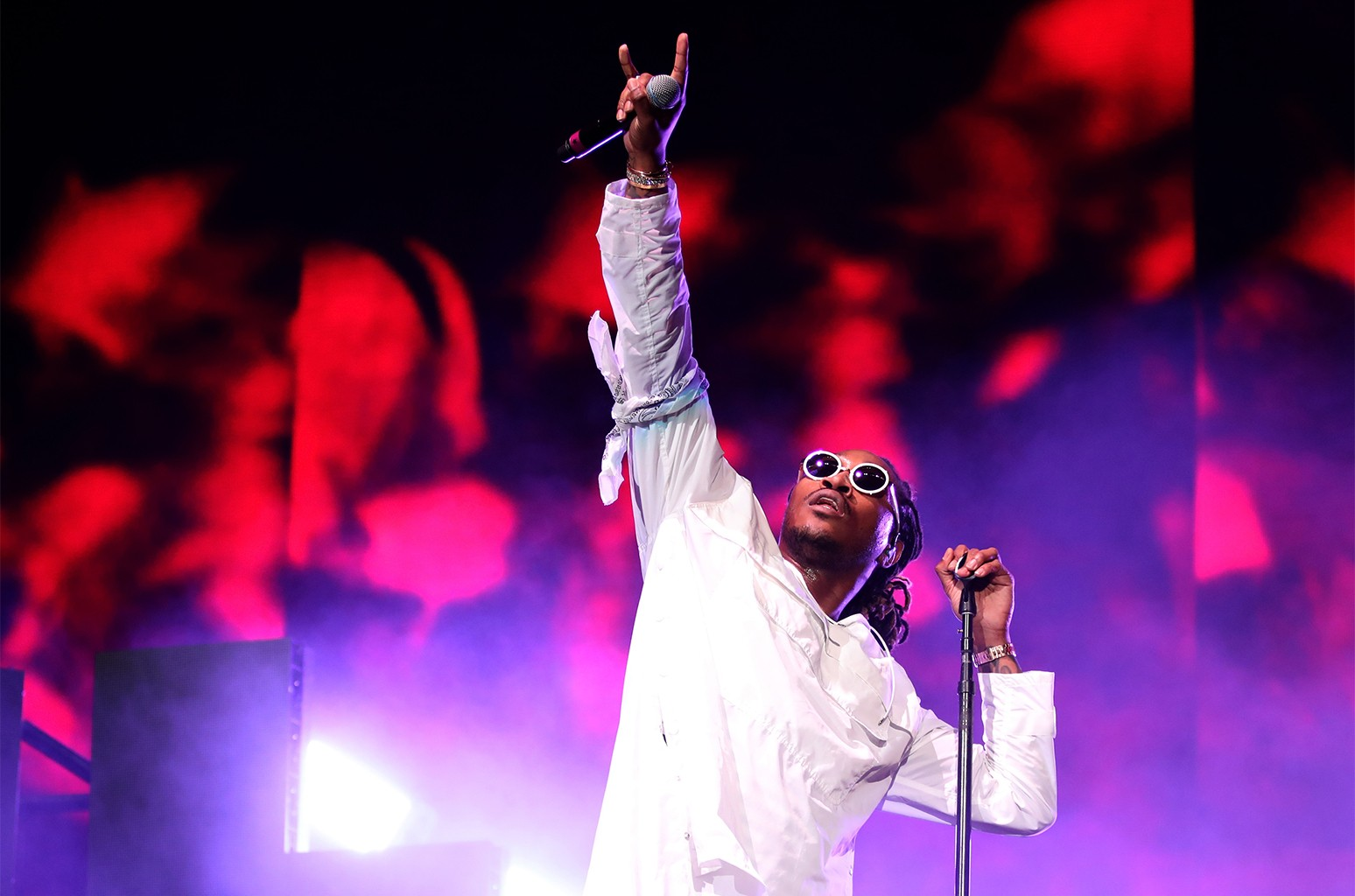Future performs on the Coachella Stage during day 2 of the Coachella Valley Music And Arts Festival (Weekend 1) at the Empire Polo Club on April 15, 2017 in Indio, Calif.