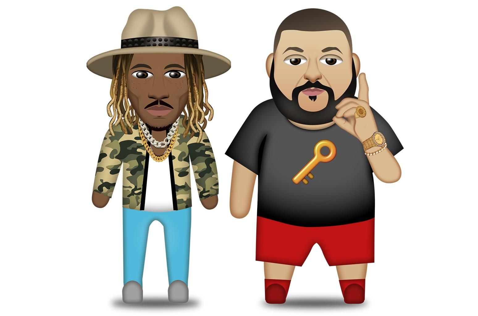 Future and DJ Khaled emojis.