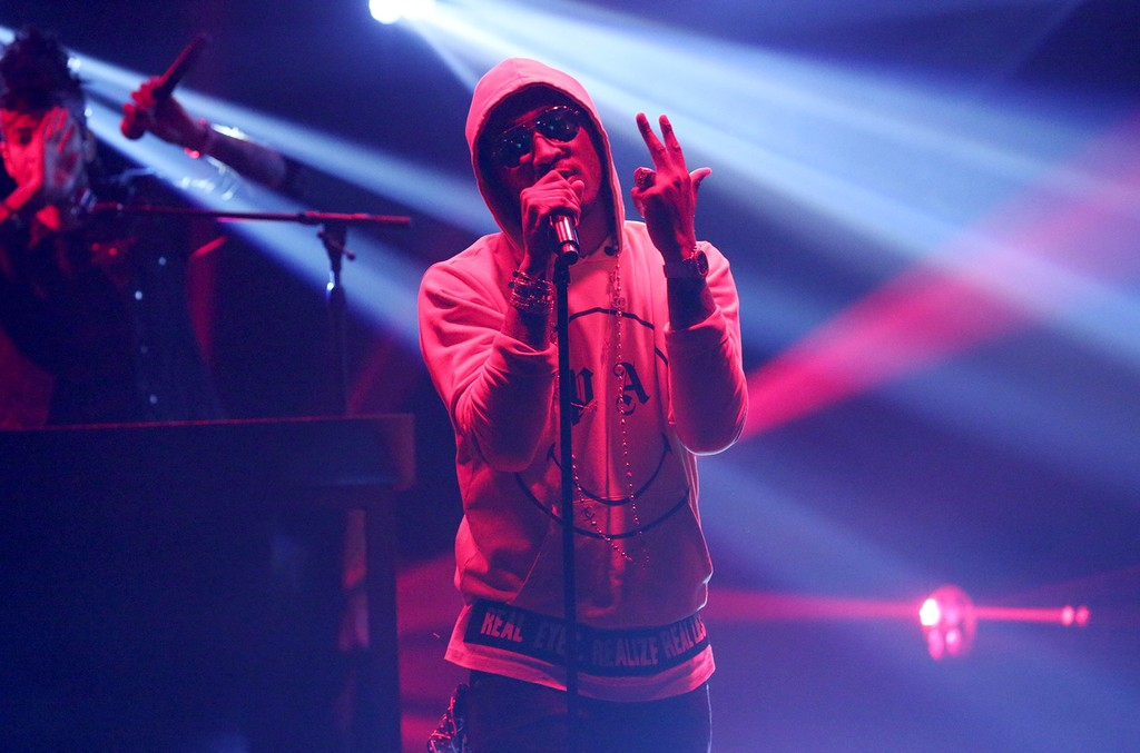 """Future performs on """"The Tonight Show Starring Jimmy Fallon"""" on Feb. 21, 2017."""