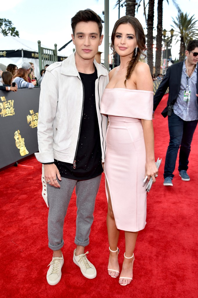 Gabriel Conte and Jess Conte attend the 2017 MTV Movie and TV Awards at The Shrine Auditorium on May 7, 2017 in Los Angeles.