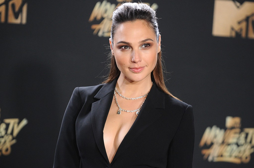 Gal Gadot poses in the press room at the 2017 MTV Movie and TV Awards at The Shrine Auditorium on May 7, 2017 in Los Angeles.