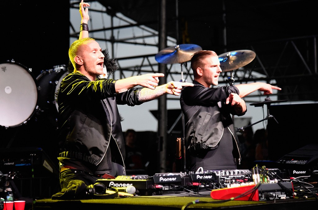 Galantis perform onstage during the 2016 Billboard Hot 100 Festival