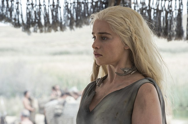 "Emilia Clarke as Daenerys Targaryen in ""Game of Thrones"" Season 6 2016."