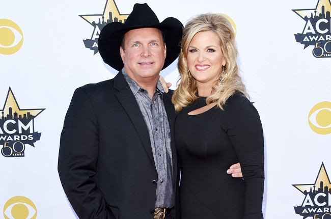 Garth Brooks and singer Trisha Yearwood attend the 50th Academy Of Country Music Awards
