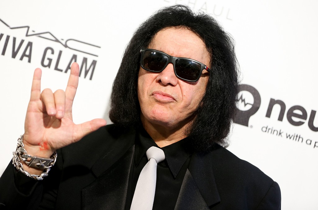Gene Simmons arrives at the 2016 Elton John AIDS Foundation Oscar Viewing Party at West Hollywood Park on Feb. 28, 2016, in West Hollywood, Calif.